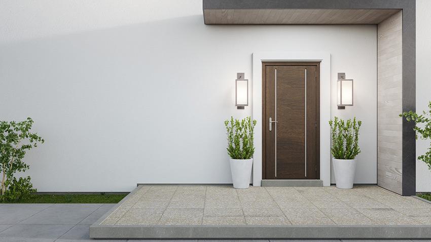 Porte d'entrée d'une maison moderne